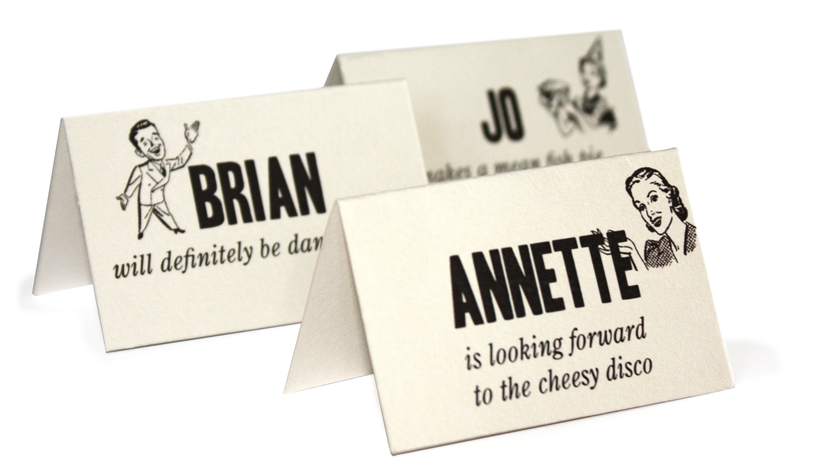 Fun Wedding Reception Place Cards | InvitationStudioBlog